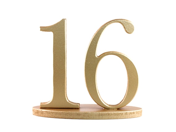Rustic Gold Table Numbers for Wedding and Party Decor Wedding Decor for Wedding Table Numbers, Wooden Freestanding Numbers (Item - NUM120)