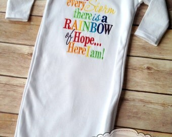 Rainbow Baby Infant Gown