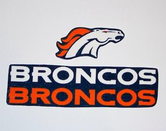 Denver Broncos iron on applique set