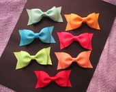 3.5 inch Layered Tuxedo Bows--girls tuxedo bows--You Choose Colors--Toddler Bows--Girl Hairbows