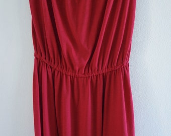 Lady In Red Simple Cotton Jersey Sundress