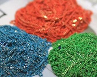 Three shiny color chains