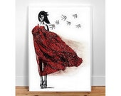Dont wait for love - A3 Black and White, Wall Art, Home Decor, for her, for kids, Fashion Illustration Modern Art , drawing