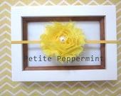 Yellow Baby Headband, Yellow Baby flower headband, Newborn Headband Toddler Headband, Yellow Baby Hair Bow