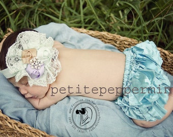 Turquoise Baby Bloomer Diaper Cover