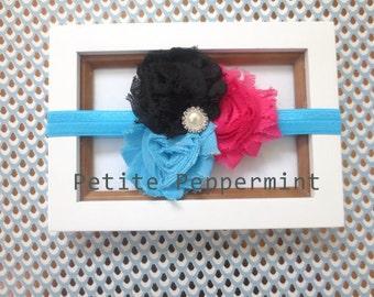 Baby Headband,Newborn Headband, Baby girl Headband,Shabby chic Headband, Flower Headband,Baby Headbands,Baby Hair Bows