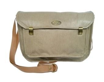 SALE Taupe Leather Satchel Bag. Genuine Leather Messenger / Crossbody Bag. Everyday Handbag. Miss Betty Satchel.