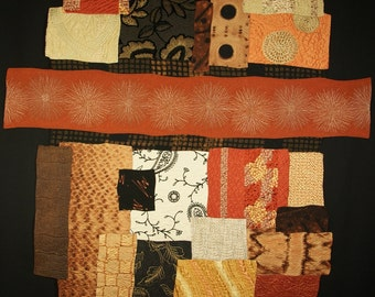 Handmade Art Quilt - Repurposed Kimono