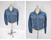 vintage lee jacket sanforized jacket indie rock 'n roll sanforized 38 regular union made in usa