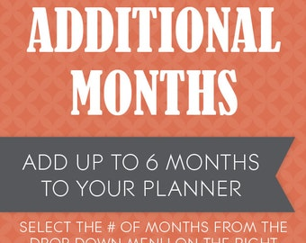 Additional Planner Months