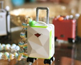 Shield suitcase necklace