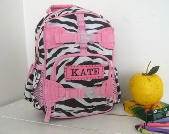 Personalized Mini Backpack Pottery Barn  -- Chocolate Zebra