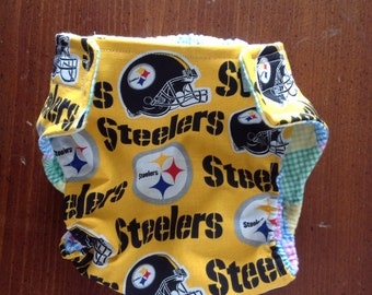 Pittsburgh Steelers Inspired Cloth Diapers/Diaper Cover