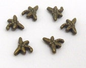 100 pcs. bronze color dragonfly metal spacer beads , 8mm