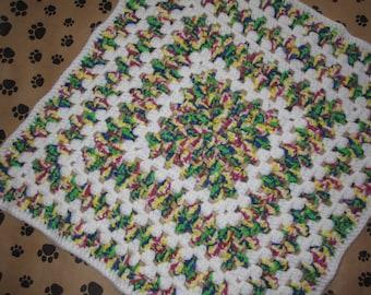 Crocheted Pet Blanket - Multicolor -