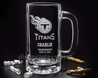 Best Man Gifts - Etched Glass FOOTBALL BEER Mugs Any SPORTS Team Glasses 16oz Wedding Glasses Beer Mugs Gifts for Groomsmen Ships to Canada