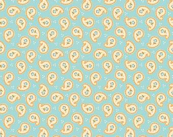Riley Blake Designs Calliope Paisley Aqua Fabric 1 yard