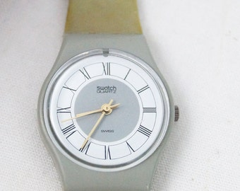 Vintage 1985 Grey Flannel LM104 Women's Swatch Watch