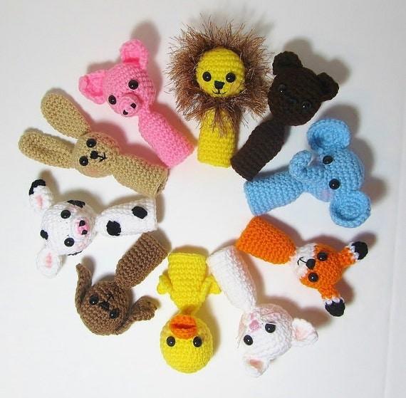 Amigurumi Finger Puppet, Crochet Finger Puppet