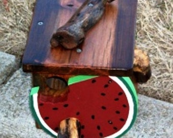 Watermelon Birdhouse  BUILT TO ORDER