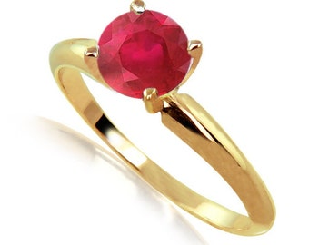 ruby ring solitaire ring ruby jewelry
