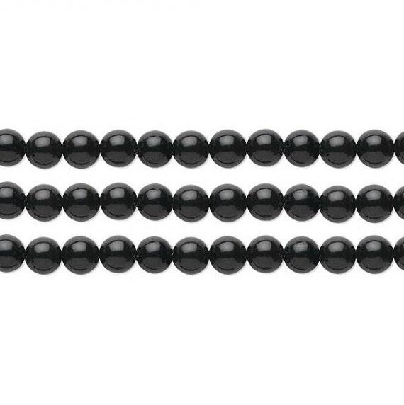 Round Black Obsidian Beads 8mm 16 Inch Strand