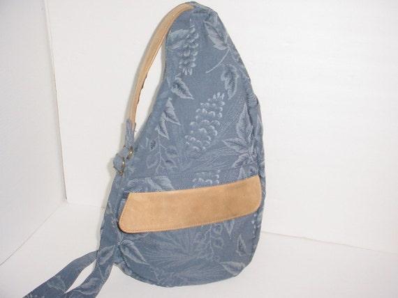 Ll Bean Ameribag Healthy Back Blue Tapestry Backpack Bag