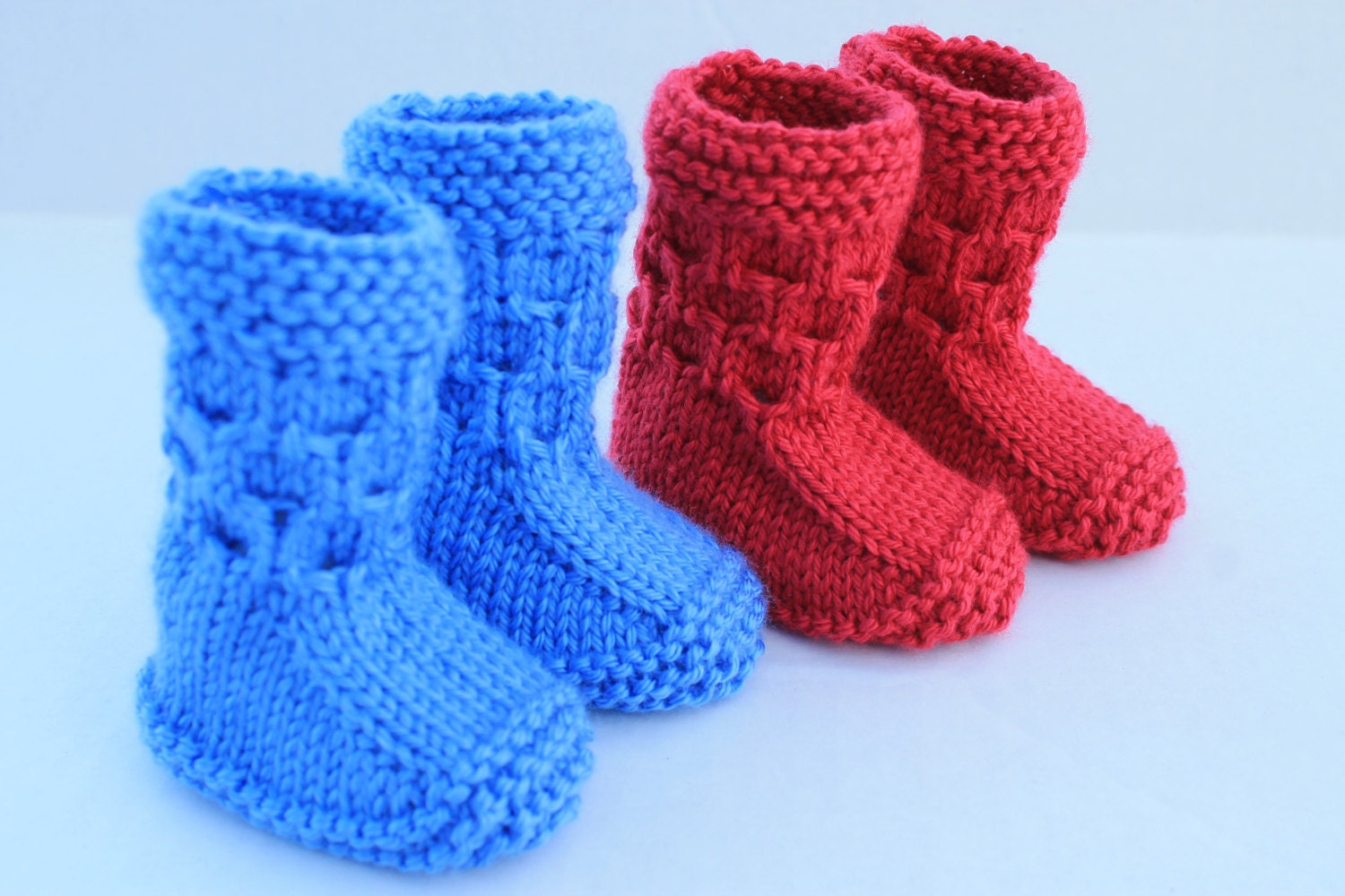 Instant Download Seamless Baby Booties PDF Pattern. Knitting