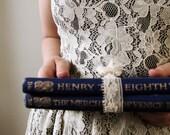 Antique Blue & Gold Book Set, Shakespeare - LittleKittenVintage
