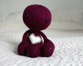 Hand Knit Fuchsia Plush Zombie