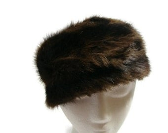 Vintage Mink Pill box Hat