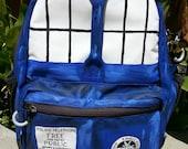 Handpainted TARDIS Backpack--Doctor Who Inspired