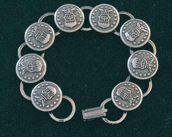 US Air Force Button Bracelet