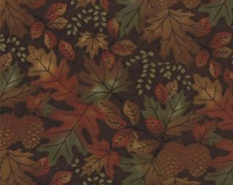 Boundry Water- Moda Flannel Fabric - Deep Brownl 6521-17F