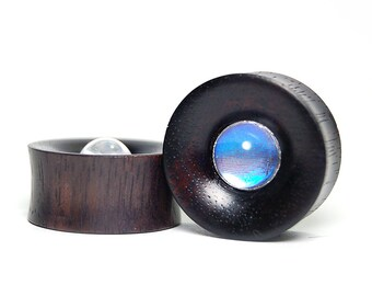 """1"""" Butterfly Wing and Areng Ebony Wood Plugs Pre-Made ON SALE - Gauges Stretchers Body Jewelry"""