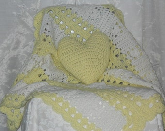 Baby Blanket with Heart Pillow