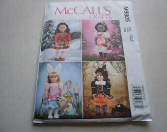 Pattern Doll Outfits for the Seasons 18 inch Dolls McCalls 6805