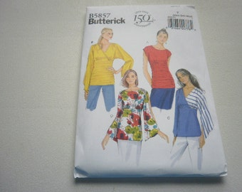 Pattern Ladies Tops 4 Styles Sizes 4 to 14 Butterick 5857