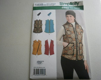Pattern Ladies Vest and Headband 4 Styles  Sizes 6 to 14 Simplicity 1499