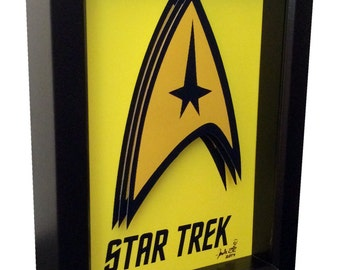 Star Trek Poster Art Symbol Insignia Captain Kirk 3D Pop Art Print