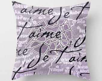Je t'aime, Paris! - pillow cover