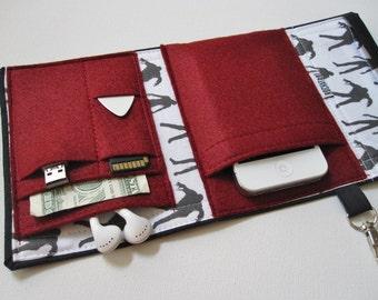Nerd Herder gadget wallet in Walking Dead - iPhone, Android, iPod, guitar picks, digital camera, earbuds