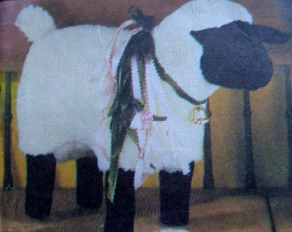 80s stuffed sheep sewing pattern simplicity 7418 by