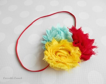 Rose Headband in Rainbow