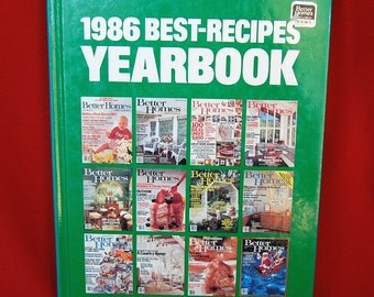 Vintage Better Homes & Gardens 1986 Best Recipes Yearbook 191 Pages  Gift for Someone Born in 1986   CB268