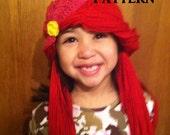 CROCHET PATTERN - The Little Mermaid, Ariel Inspired Hat