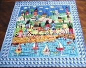 SUMMER FUN Quiltied Table Topper or Wall Hanging by Sweet Tooth Quilts