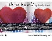 Designing Stencil: Three Hearts
