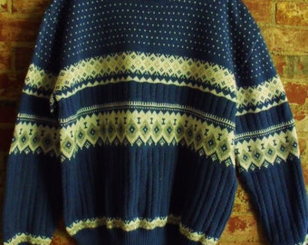 Vintage Rob Winter Ski Sweater.  Size XL,  Excellent Condition