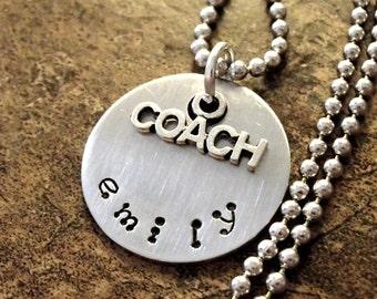 Coach Jewelry, Personalized Jewelry, Coach Necklace, Jewelry for Coach, Personalized Coach Jewelry